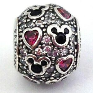 Pandora Disney Sparkling Mickey And Heart Charm